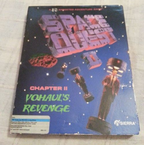 Space-Quest-II-Vohals-Revenge-Sierra-PC-Game-Box-Disk-Manual-shortcut-book