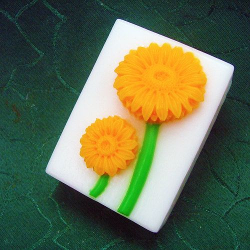 Sunflower Oblong Silicone Mold/Mould For Handmade Soap by HappyDIY, $7.99