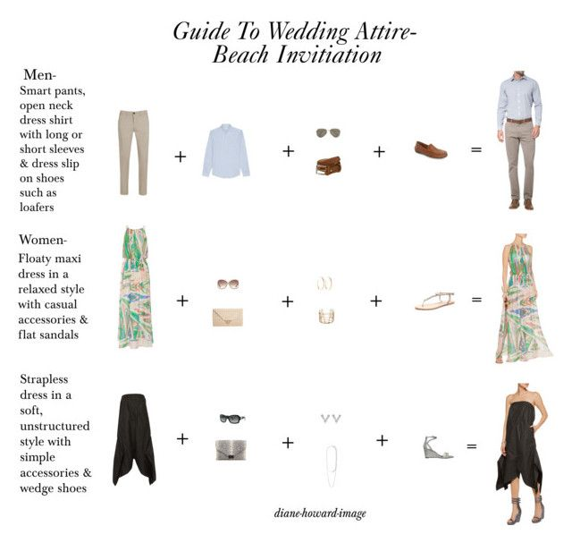 Formal Attire On Wedding Invitation: Guide To Wedding Attire-Beachl Invitation By Diane-howard