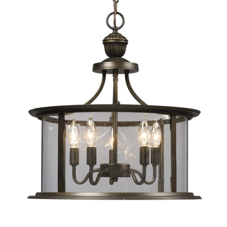 Galaxy huntington 18 in oil rubbed bronze wrought iron single clear glass lantern pendant
