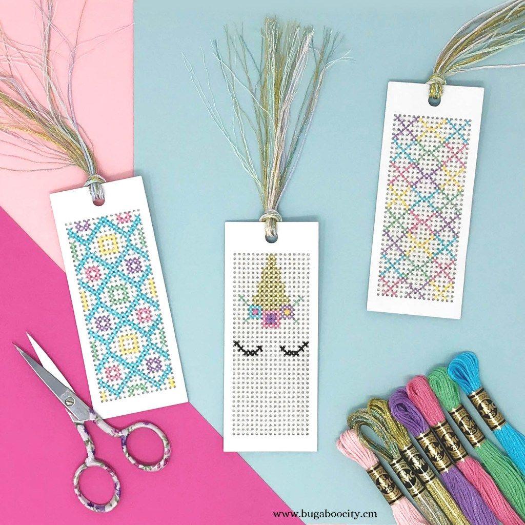 Unicorn Cross Stitch Bookmarks With Free Pattern Cross Stitch