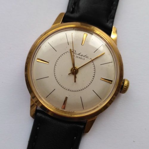 RARE-early-RAKETA-Vintage-Soviet-USSR-mechanical-wristwatch-2609-Golden-plated