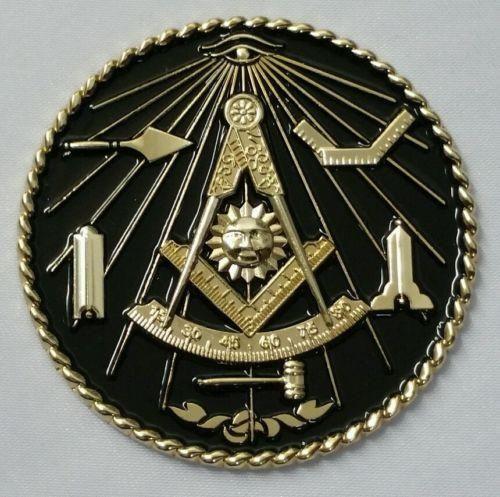 New Freemason Masonic Past Master Car Emblem