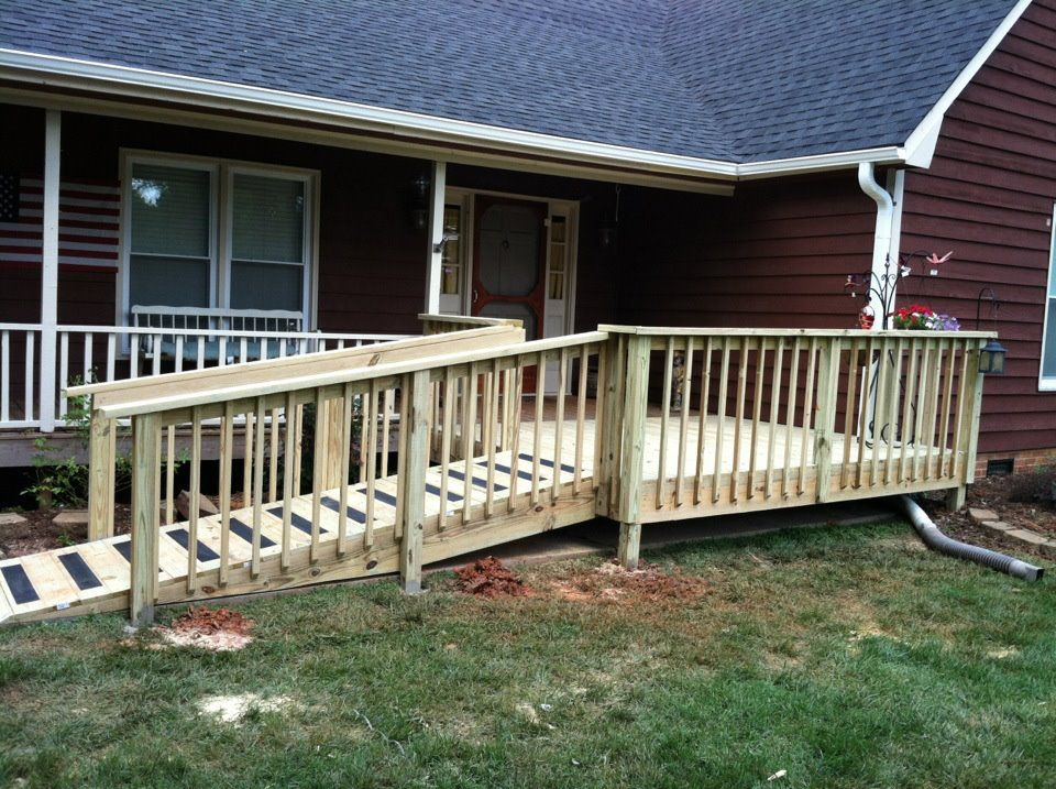 Wheelchair Ramp Donated By Home Depot Wheelchair Ramp Ramp Stairs Outdoor Ramp