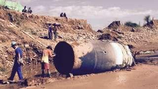Myanmar debris: 'Mystery object lands at jade mine ...  |Debris Mystery