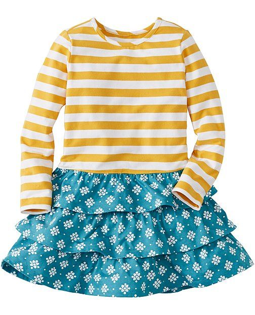 Stripes Love Flowers Dress | Sale Special Dresses Girls | Sewing ...