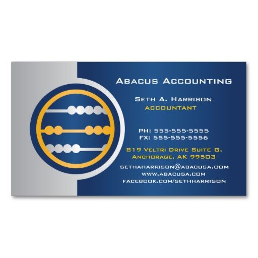 Blue Abacus Accounting Business Cards Zazzle Com Business Card Maker Business Card Design Customizable Business Cards