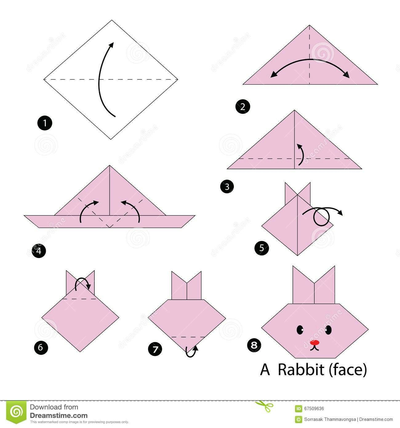 Pin by Kinga ) on Origami Origami easy, Origami rabbit