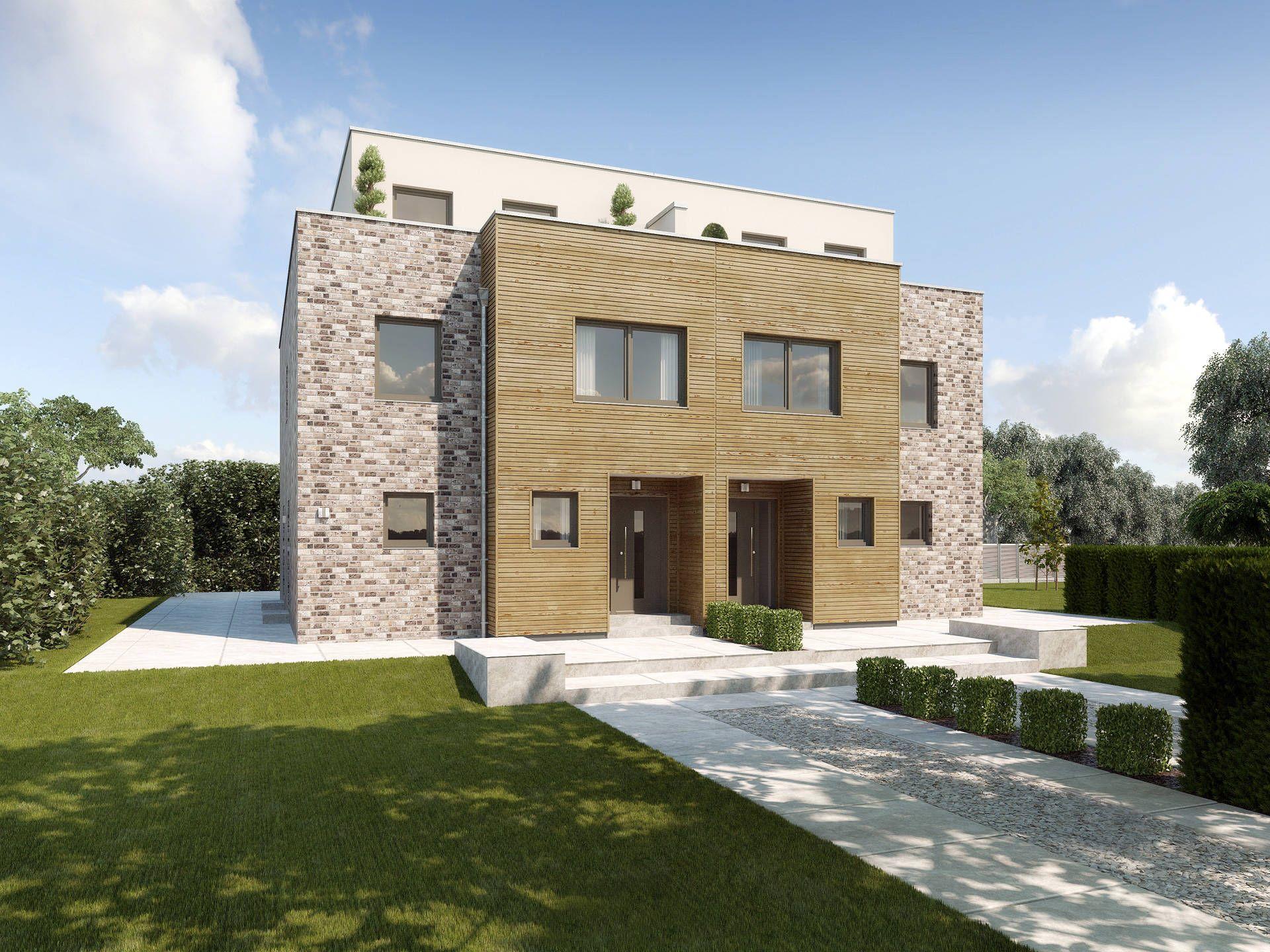 Doppelhaus Malaga • Doppelhaus von GUSSEK HAUS • Extravagantes ...