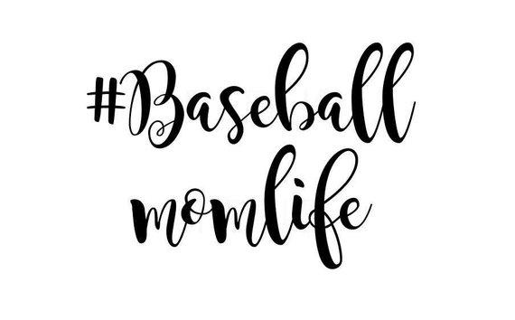 Hashtag Baseball Momlife Svg Cutting File Cricut And Cameo