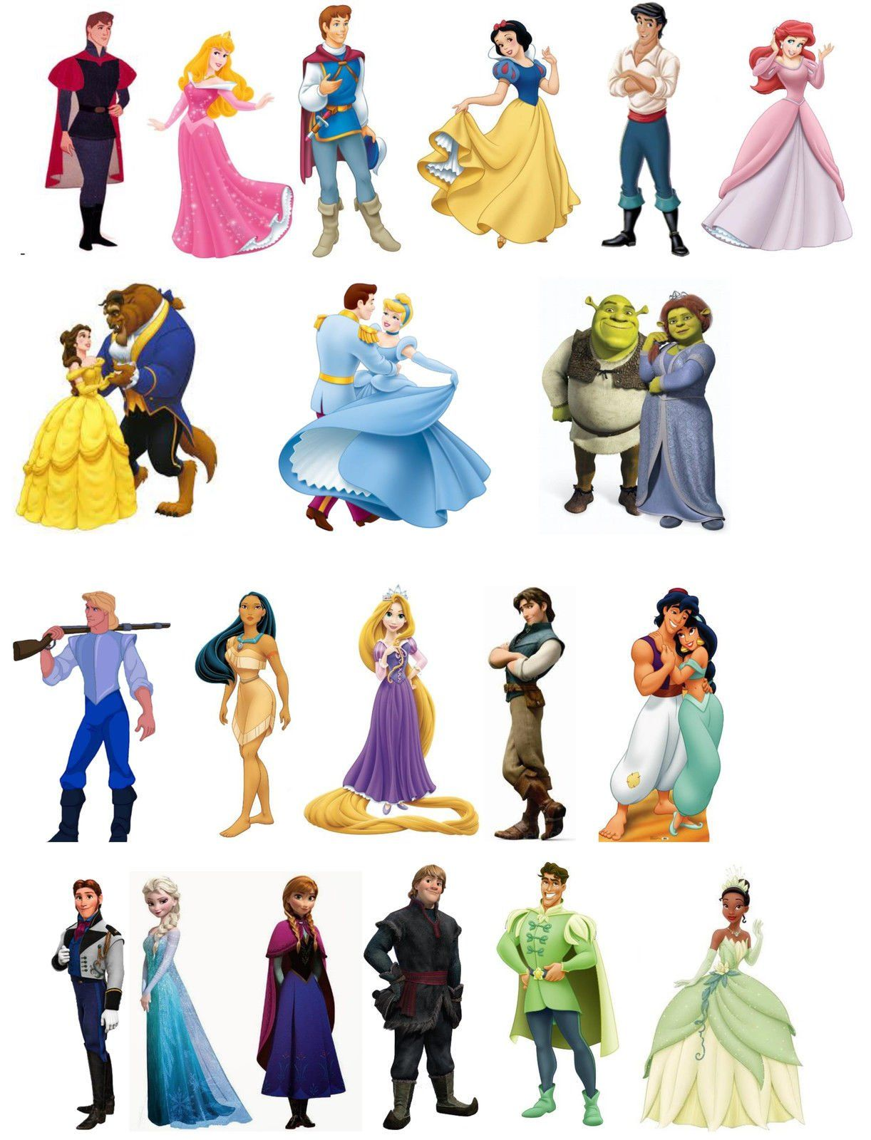 48 Mixed Princess Edible Wafer Paper Cake Toppers Decorations Frozen