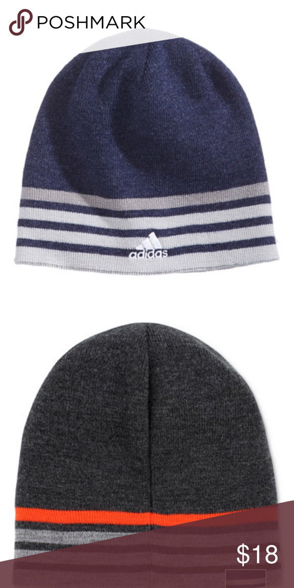 0b310a33c78 Adidas men s Eclipse reversible beanie Softly knit with a choice of looks
