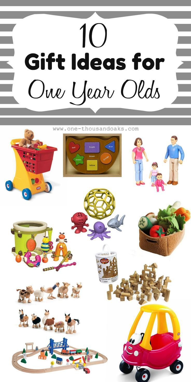 10 Gift Ideas For 1 Year Olds Unique birthday gifts, 1