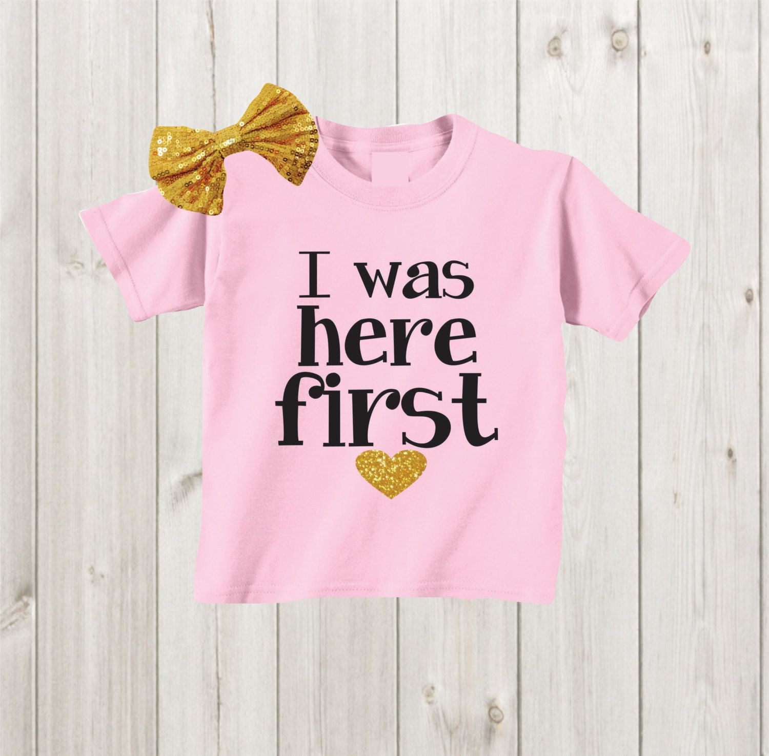 I was here first Big sister shirt Pregnancy Reveal ...