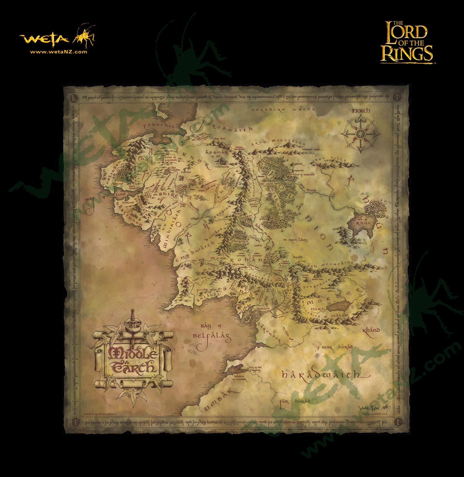 parchment map of middle earth daniel reeves map of middle earth is well