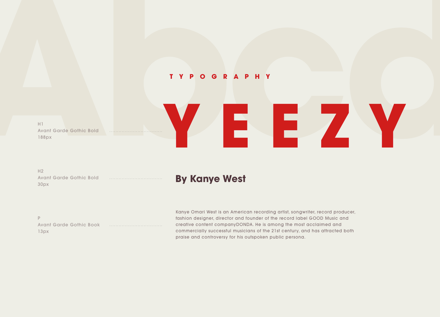 Concept for Adidas Yeezy Collection. There is no stand alone site for this great collection by Kanye West so I just created a quick concept for the microsite. It contains nice clean images with colour gradients and strong red highlight. Big typography wit…