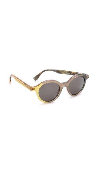 Fendi Round Pattern Fade Sunglasses
