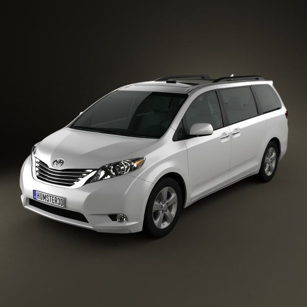 Toyota Sienna Rental: Toyota Sienna 2011 3d Model From Humster3d.com. Price: $75