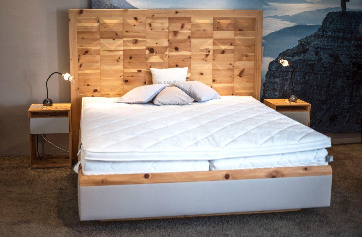 Doppelbett Big Ann Anrei Aus Zirbe Massiv Geölt Bett Schlafzimmer Schlafen Matratze Einrichtung Wohnen Möbel Zirbenholz Bett Bett Schlafzimmer