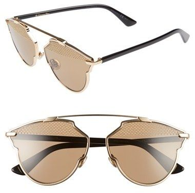 5b43c1e4eeaa Women s Dior  So Real  Studded 59Mm Sunglasses - Gold  Black ...