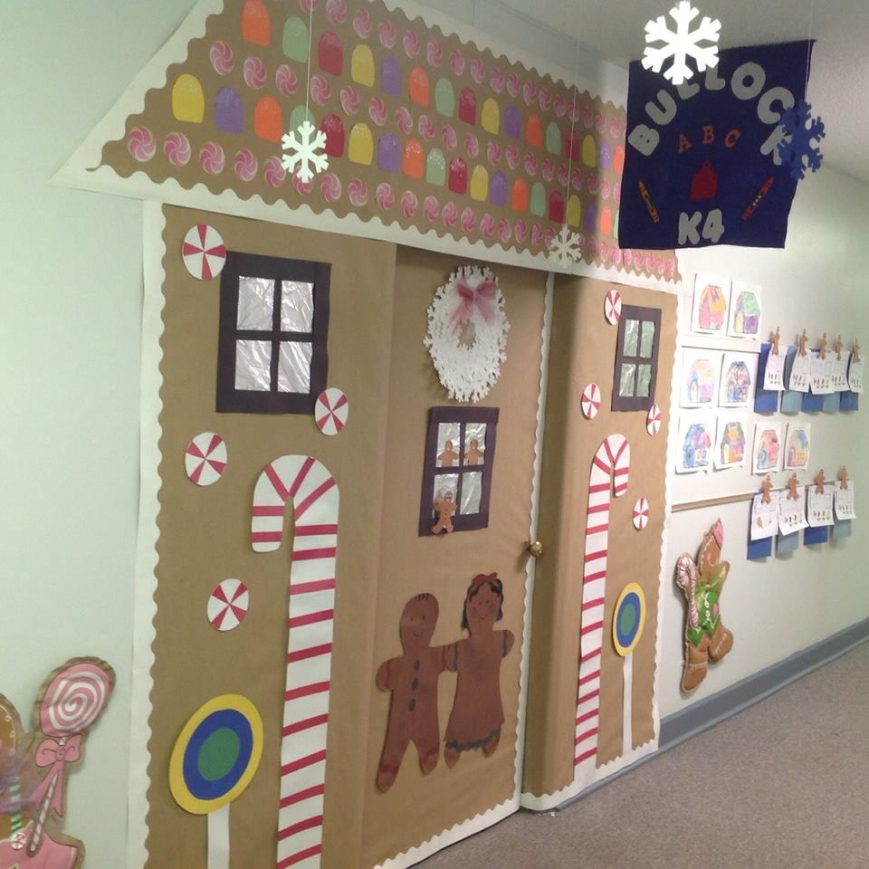 Decorating Elementary Classrooms ~ Gingerbread door decoration ashley