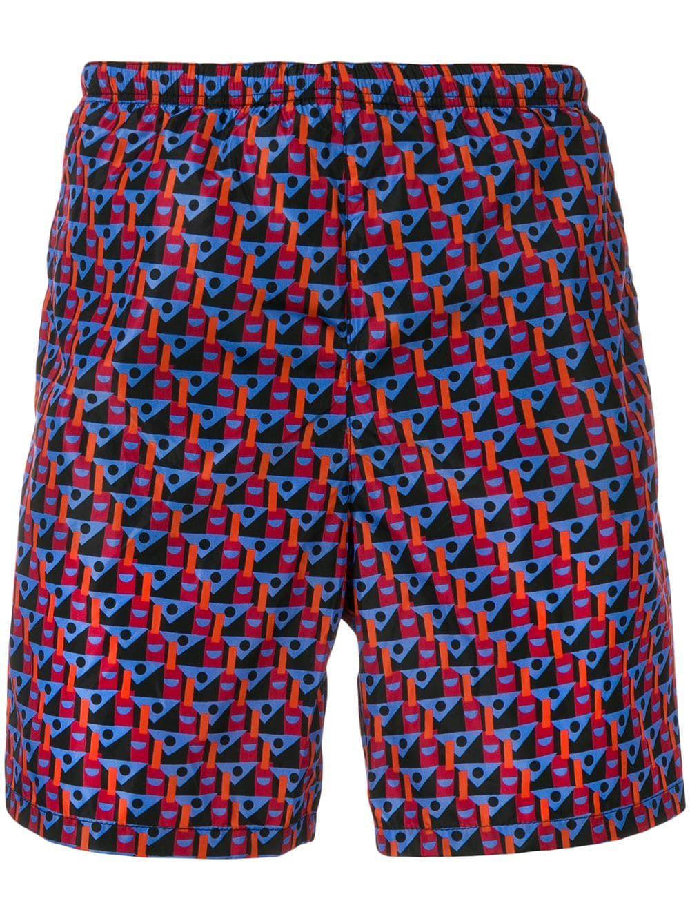 5d53c90c05037 PRADA PRADA GEOMETRIC PRINT SWIM SHORTS - BLUE. #prada #cloth ...