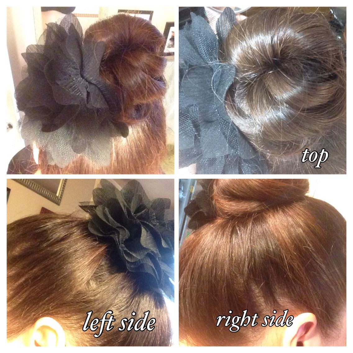 Easy Style For Three Day Old Hair Ballerina Bun Curl Clear Hair Band High Head Pony Wrap Sections Around Pony And Bobby Pin In Place Clear Hair Ballerina Bun Hair Styles