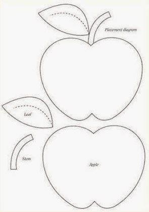 Moldes para hacer unos magníficos cojines en forma de manzana ...