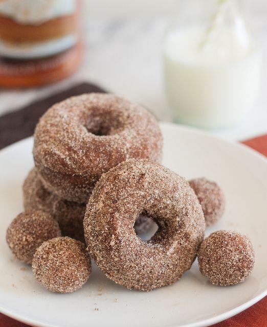 Cinnamon-Sugar Gingerbread Doughnuts by Tracey's Culinary Adventures