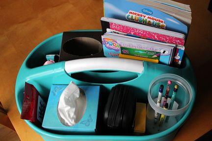 another way to keep those color/workbooks and crayons in control