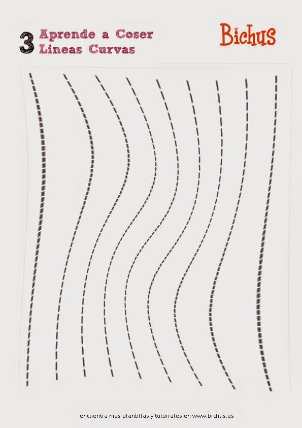 Plantillas para aprender a coser a maquina   tutoriales de costura ...
