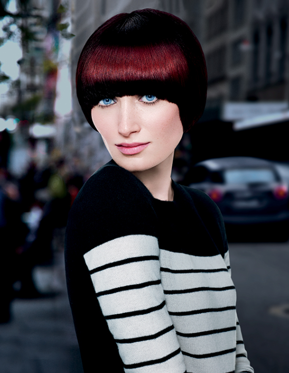 Redken - Short Hairstyles - Black and Red   HAIR COLLECTION / Look ...