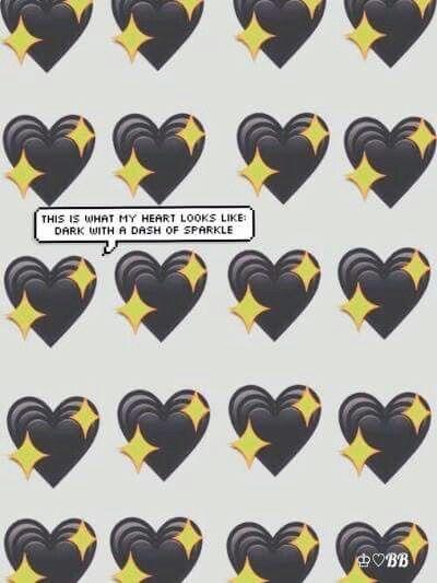 My Black Heart Glitters Emoji Backgrounds Emoji Wallpaper Cute Emoji Wallpaper