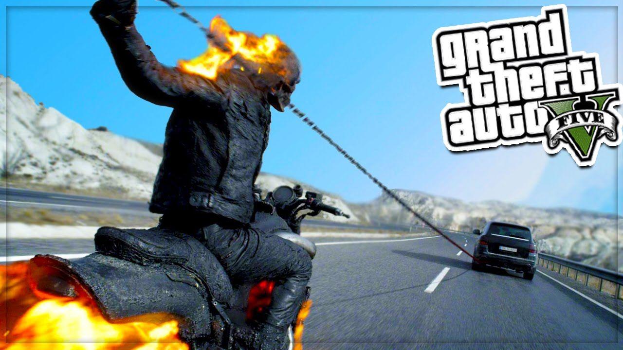 GTA 5 Mods: GHOST RIDER MOD! GTA 5 Mods Showcase (GTA 5 Mods