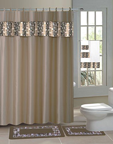Gorgeoushome New Designs 15pc Printed Banded Bathroom Rubber