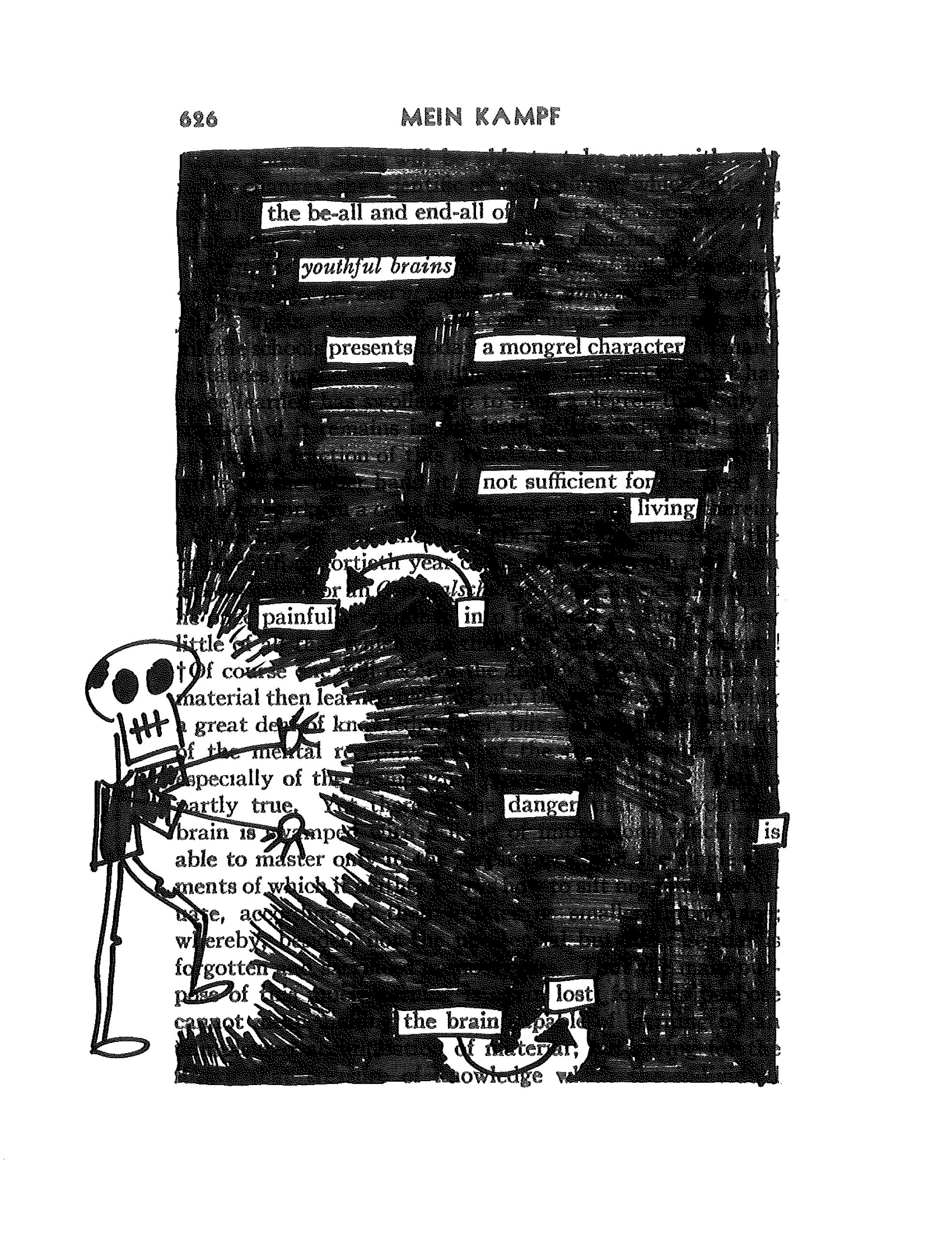 Blackout Poetry With The Book Thief
