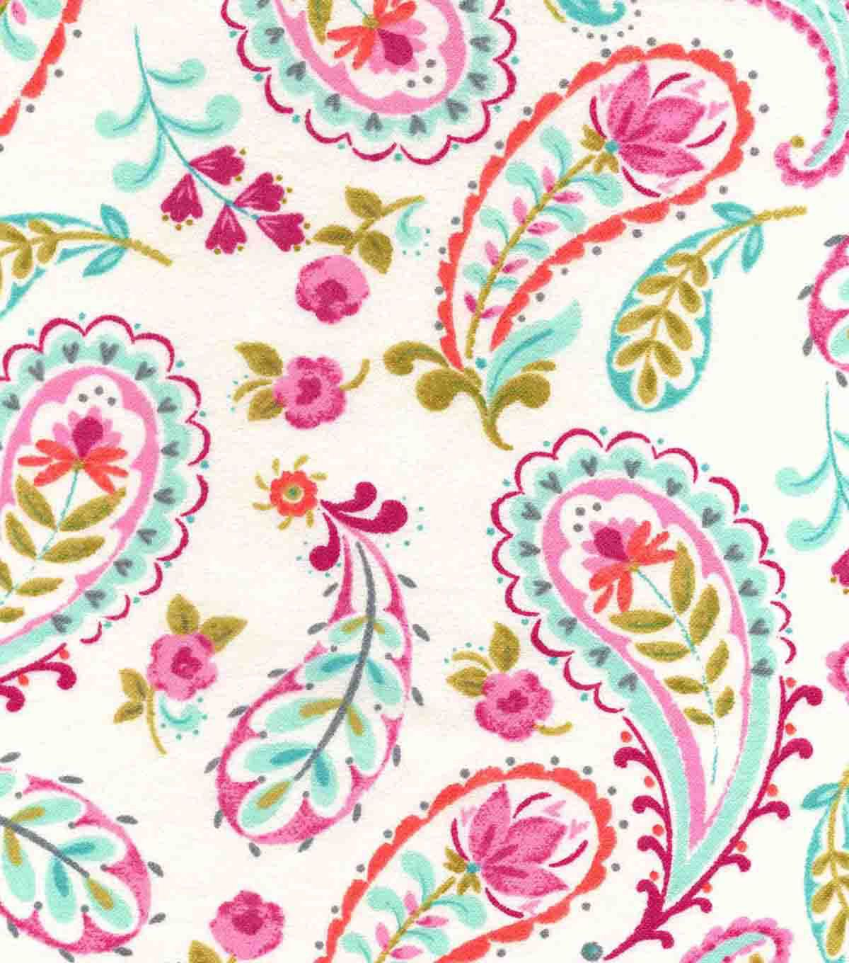 Snuggle Flannel Fabric Madison Paisley Joanns Fabric Crafts