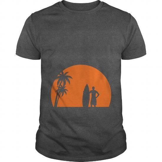 Cool surfer palms sun surfboard surfing sundown sunset swim beach T shirts