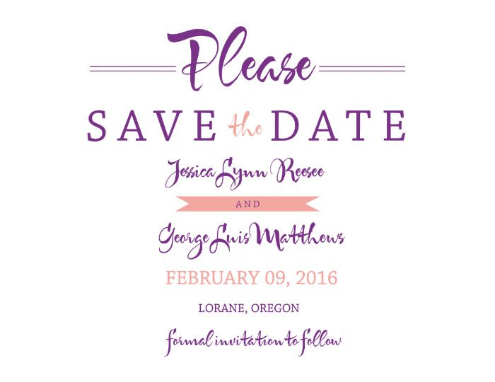 Wedding Chicks Free Invitations: FREE Customizable Save The Date From Wedding Chicks