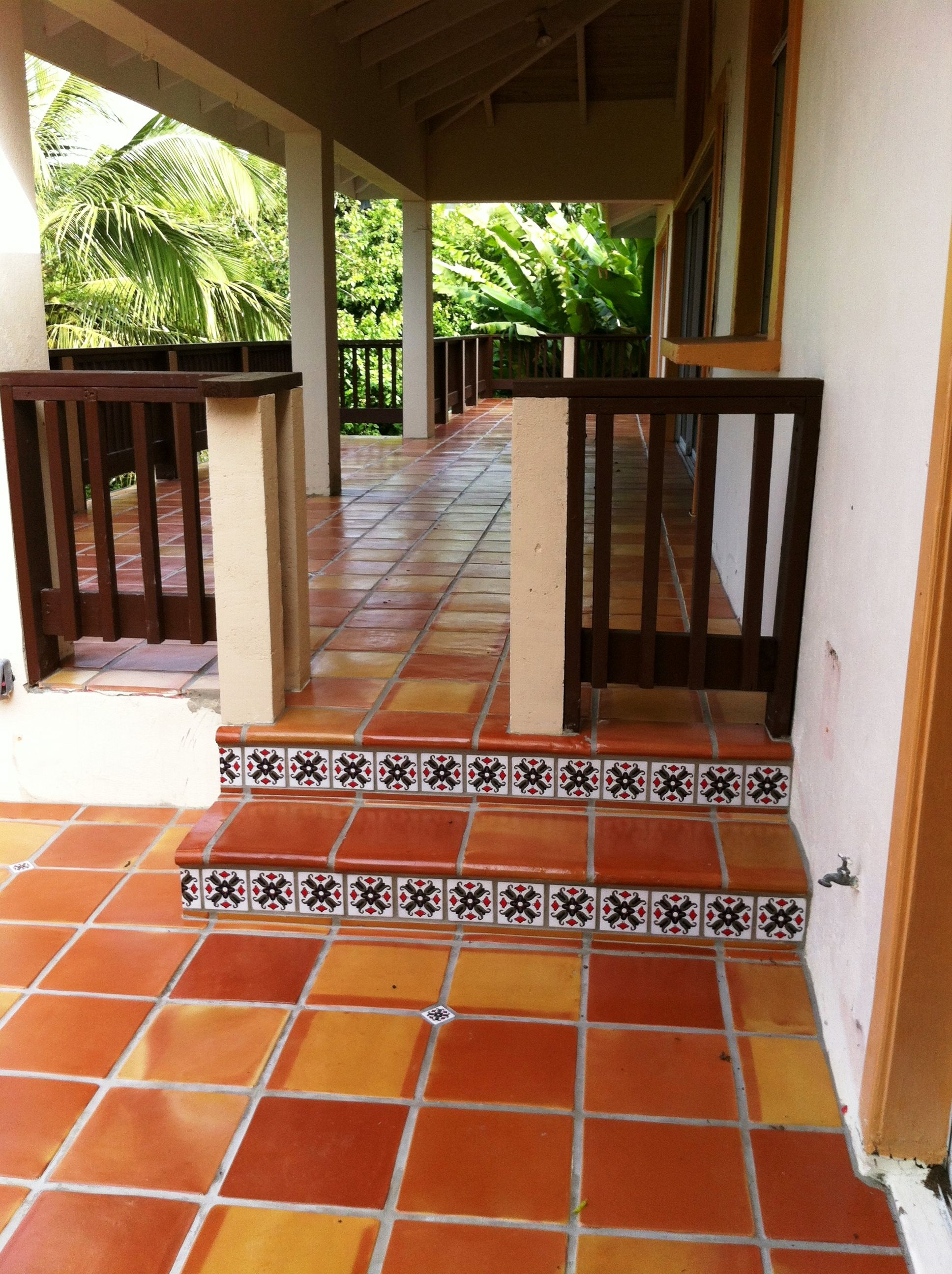 terracotta outdoor patio - love terracotta tile. looking for ideas
