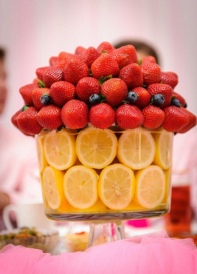 Lemons As Vase Fillers Strawberries Arrangement Party Ideas