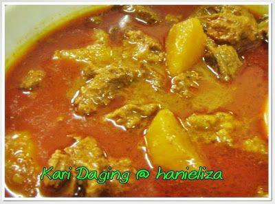 Hanieliza S Cooking Kari Daging Mertuaku Resep Masakan Malaysia Resep Makanan Resep Masakan