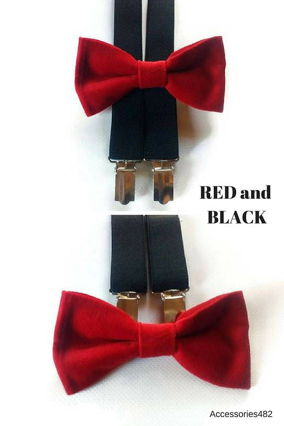 d5dc8d8d45f  9.95+ black suspenders red VELVET bow tie for kids toddlers Red prom suit  Mens suits Tuxedo for men  redblackwedding  redbowtie  ringbeareroutfit