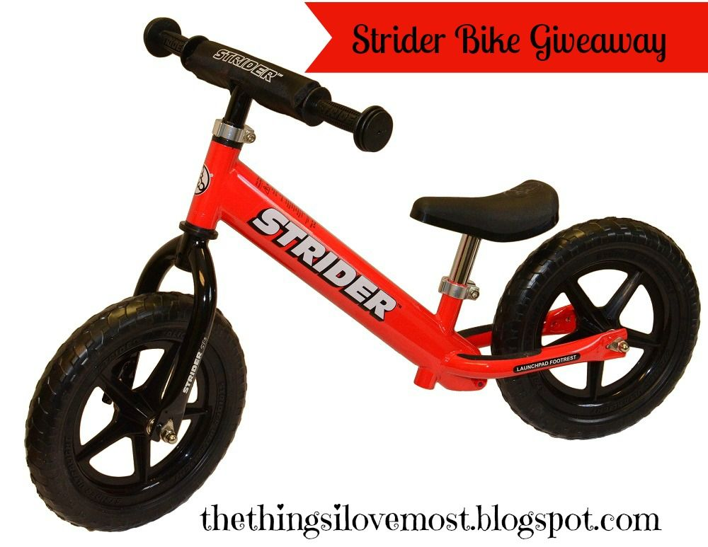 The Things I Love Strider Bike Review and Giveaway