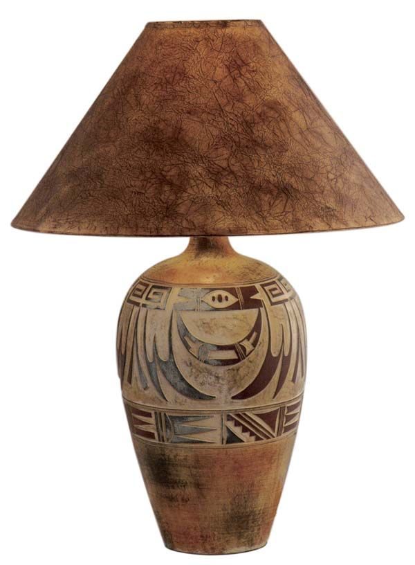 Desert Collection Lamp 182 Southwestern Lamps Rustic Table