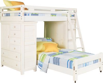Shop For A Creekside White Wash Twin Twin Student Loft Bed W Chests At Rooms To Go Kids Find That Will Look Great In Your Home And Compl Bunk Beds In 2019