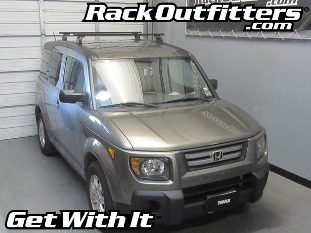 Honda Element Thule Podium Square Bar Roof Rack 03 11 Roof