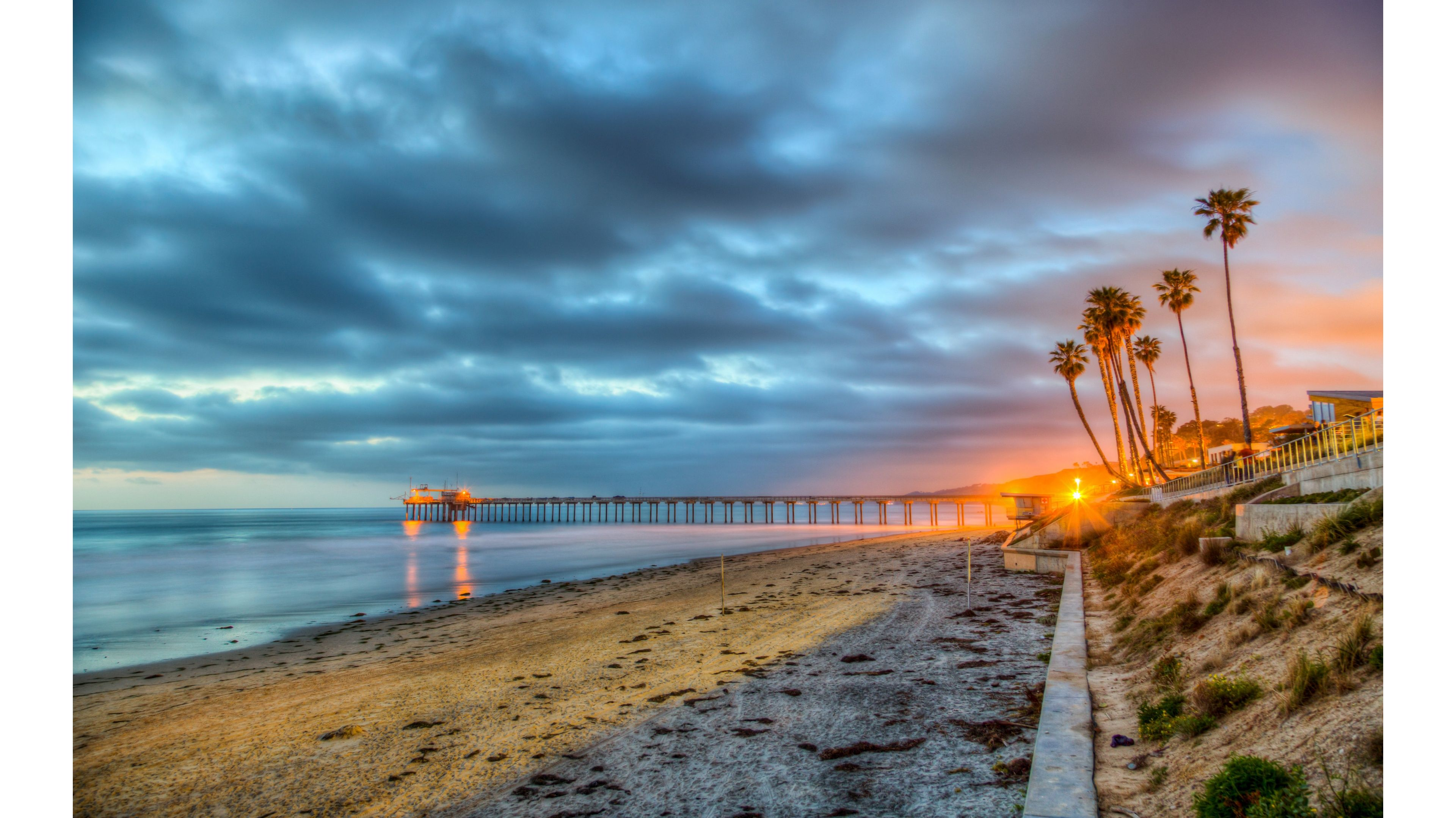 4k Sunset Wallpaper Beach Wallpaper San Diego Beach