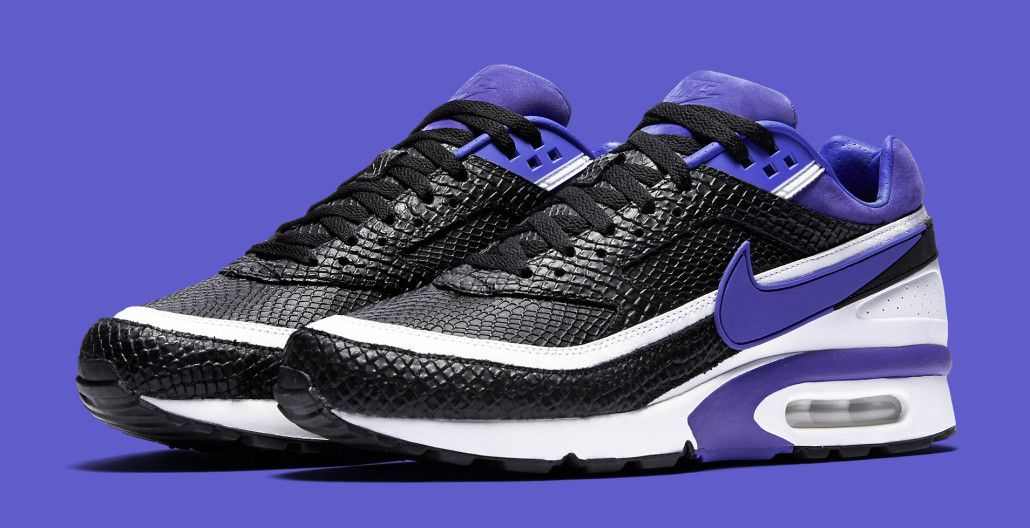 da36978f3150 ... discount code for snakeskin makes an appearance on the nike air max  classic bw persian violet