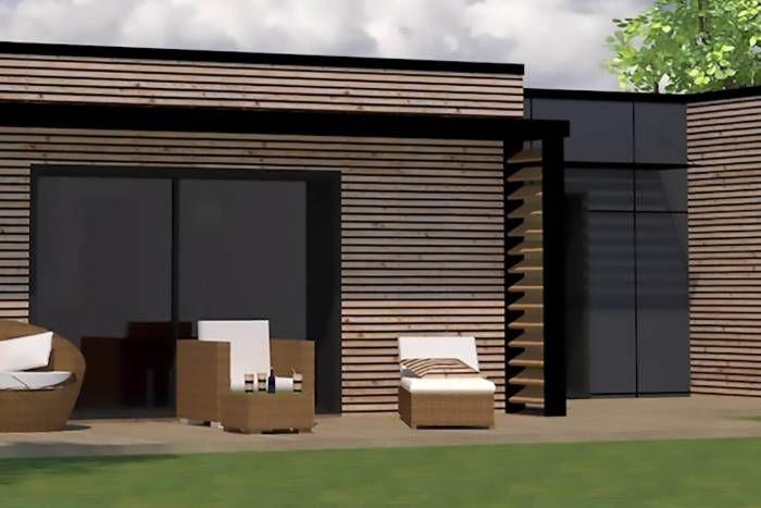 brise vue brise soleil bois alu maison ossature bois Architecture